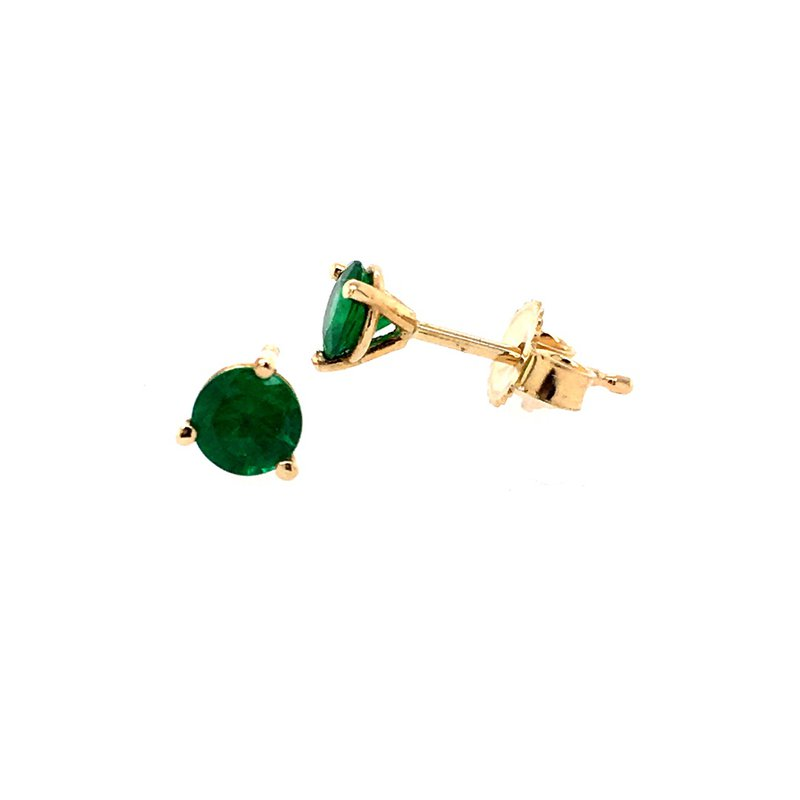 B&C Creations Emerald Stud Earrings