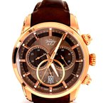 B&C Collections Brown Chronograph Watch