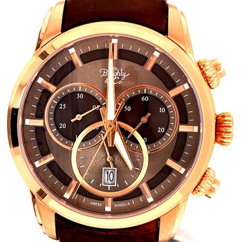 Brown Chronograph Watch