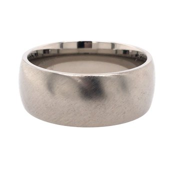 Titanium Band With Angle Satin Finish