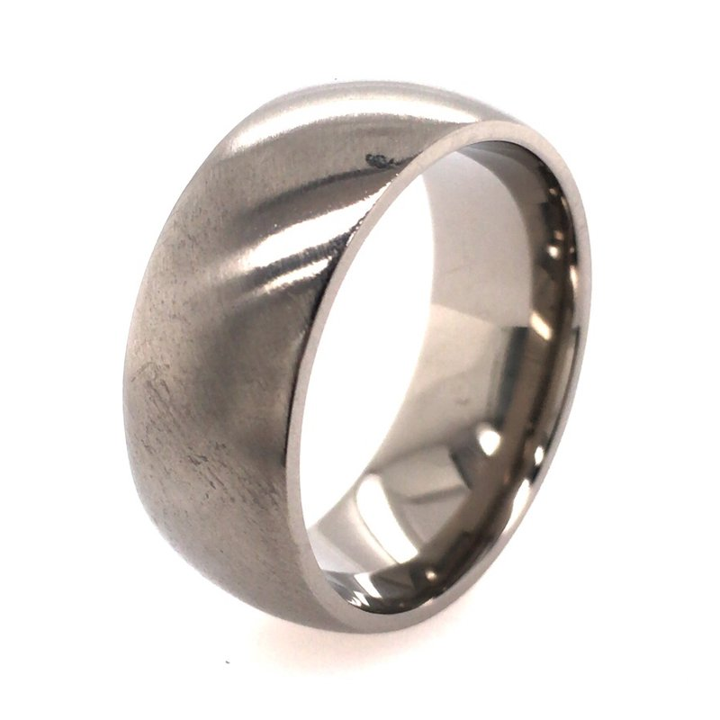 Lashbrook Designs Titanium Band With Angle Satin Finish