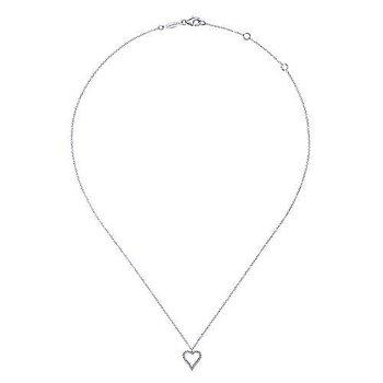 Diamonod Open Heart Necklace