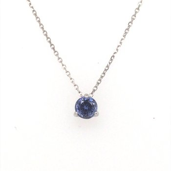Lavender Blue Sapphire Pendant