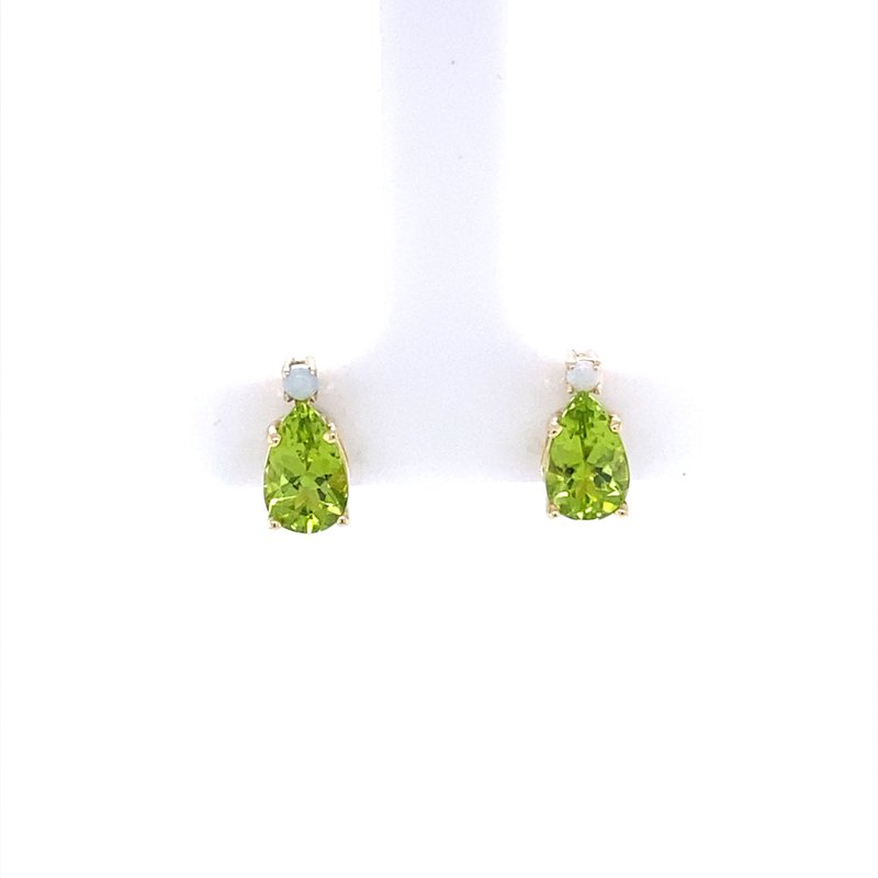 B&C Creations Peridot and Opal Studs