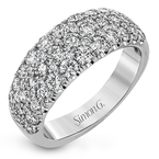 Simon G IN-STORE COLLECTION White Gold Wide Diamond Pave' Band