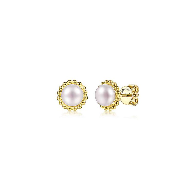 Gabriel & Co. -  IN-STORE COLLECTION Beaded Fresh Water Pearl Studs