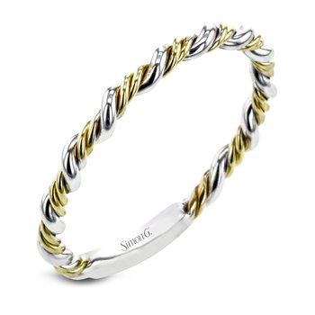 White and Yellow Gold Twist Style Band
