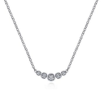 Graduating Diamond Bar Necklace
