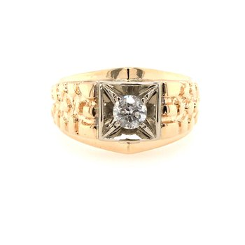 Men's Yellow Gold ring with Diamond
