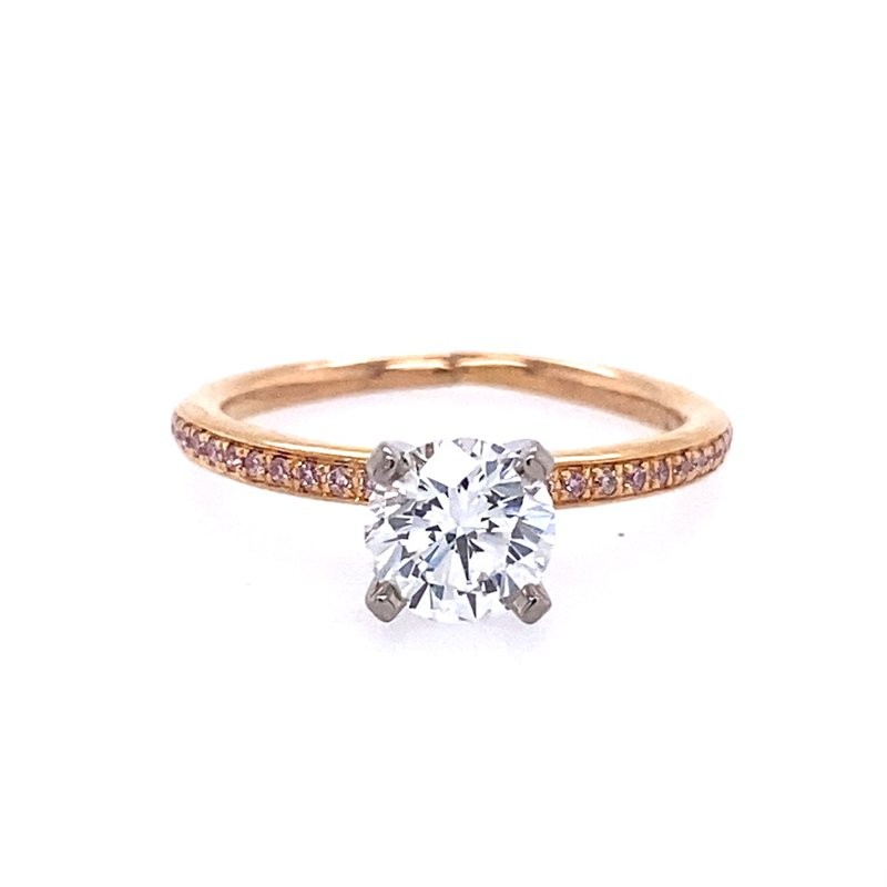 B&C Estate Collection Fancy Pink Diamond Engagement Ring