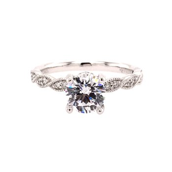 Vintage Inspired Twist Engagement Ring