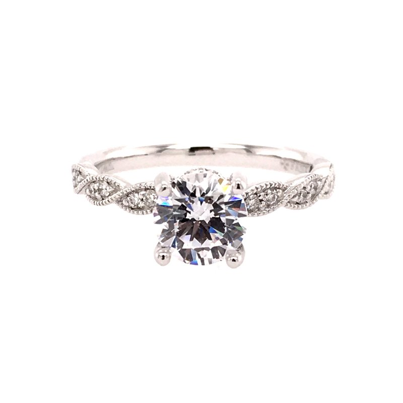 Fana Vintage Inspired Twist Engagement Ring