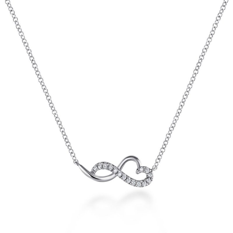 Gabriel & Co. -  IN-STORE COLLECTION Infinity Heart Necklace