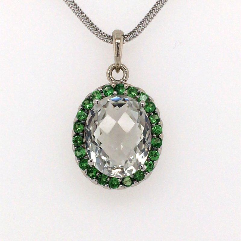 B&C Estate Collection Quartz and Emerald Pendant