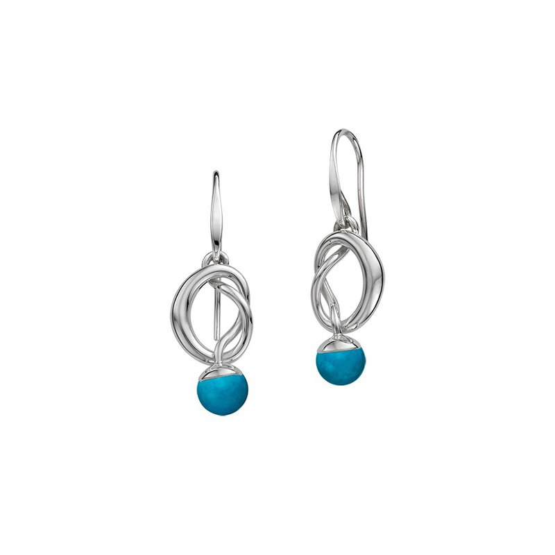 E. L. Designs IN-STORE Collection S/S Turquoise Knotty Earrings
