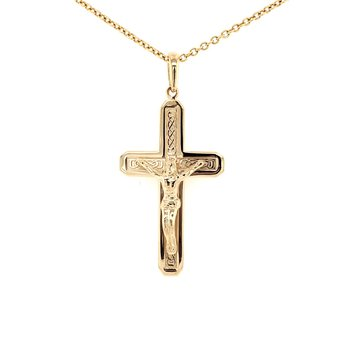 Gold Crucifix with Chain