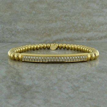 Double Row Diamond Pave Bracelet
