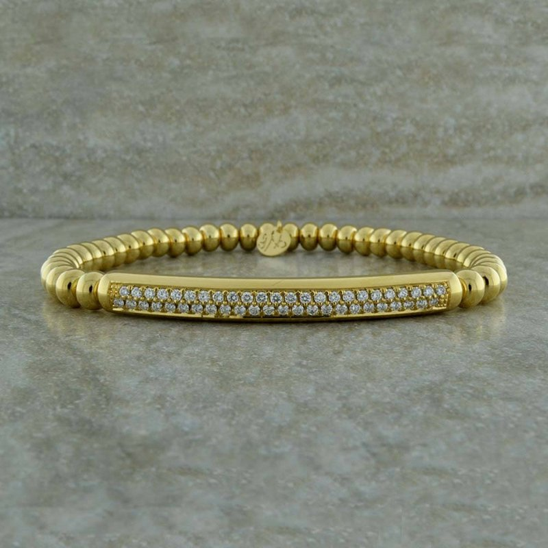 Hulchi Belluni Double Row Diamond Pave Bracelet