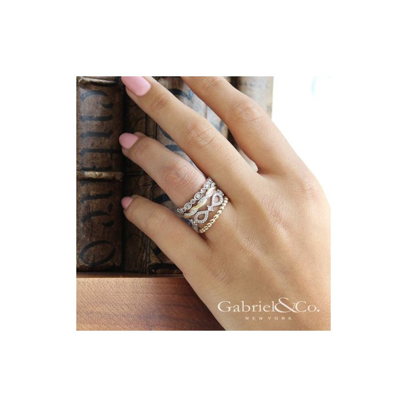 Gabriel & Co. -  IN-STORE COLLECTION Diamond Twist Stackable Band