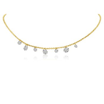 Pierced Diamond Choker
