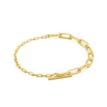Mixed Link T-Bar Bracelet
