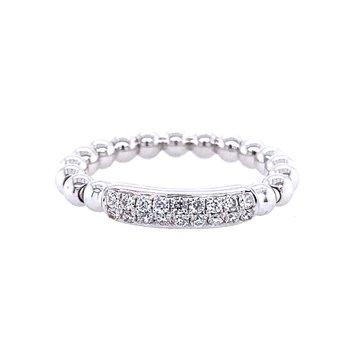 Diamond Pave Bar Ring