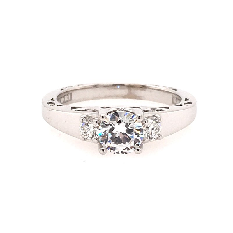 B&C Collections 3 Stone Style White Gold Engagement Ring