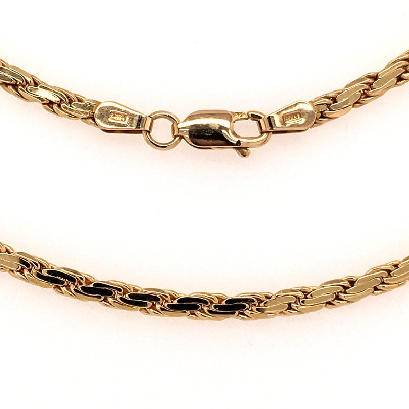 """B&C Estate Collection 18"""" Flat Rope Chain"""