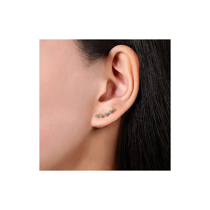 Gabriel & Co. -  IN-STORE COLLECTION Diamond Bar Studs