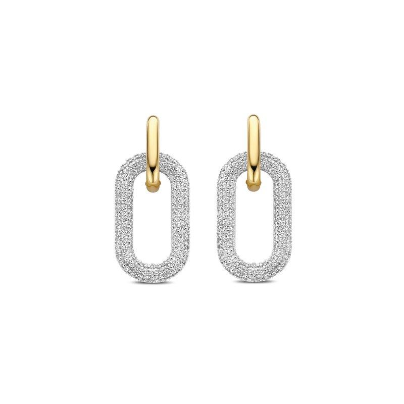 Ti Sento Double Link Earrings