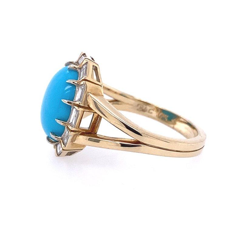 B&C Creations Turquoise & Diamond Ring