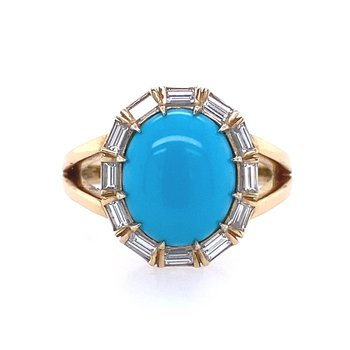 Turquoise & Diamond Ring