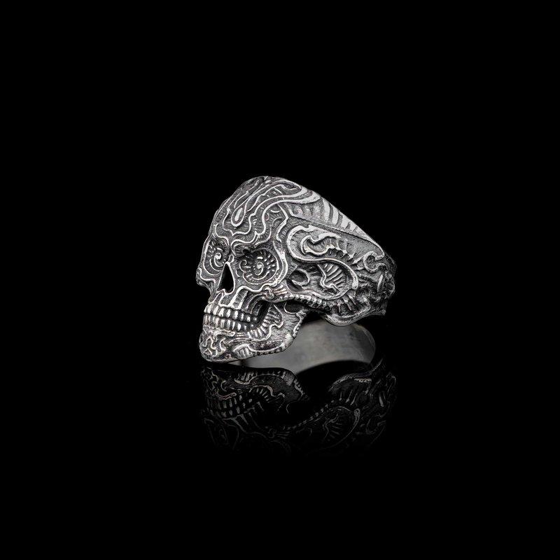 William Henry Rebel Skull Ring