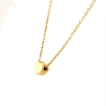 Gold Heart Station Necklace