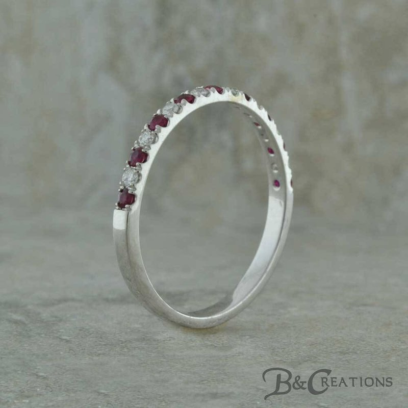Uniquely Yours . . .  Ruby and Diamond Band