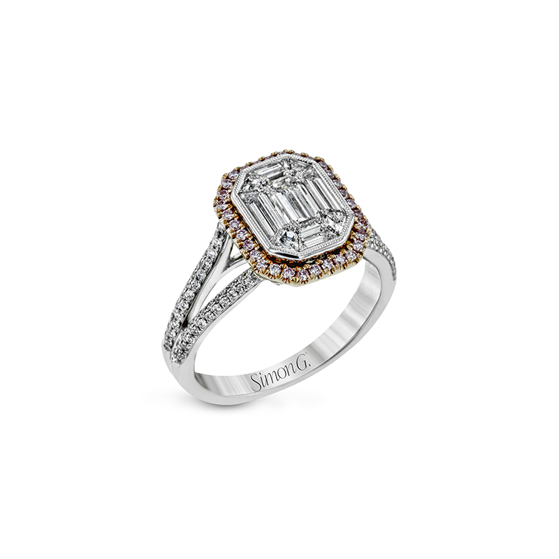 Simon G IN-STORE COLLECTION Two Tone Diamond Mosaic Ring
