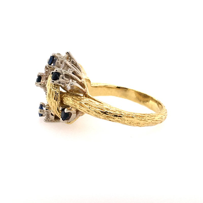 B&C Estate Collection Sapphire and Diamond Ring