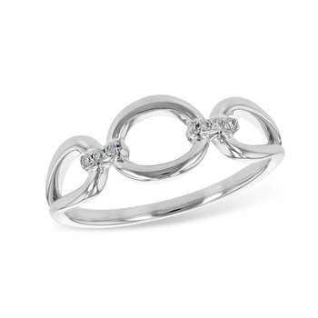 Diamond Accented Circle Ring