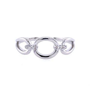 Diamond Accented Circle Ring