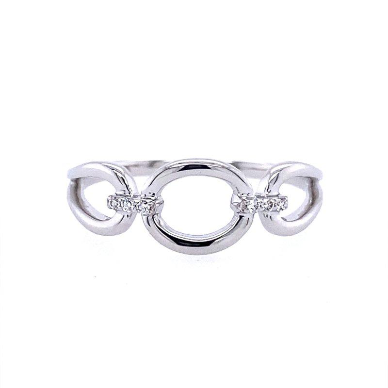 Allison Kaufman Diamond Accented Circle Ring