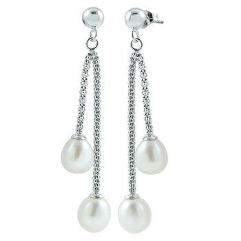 Double Drop Pearl Earrings