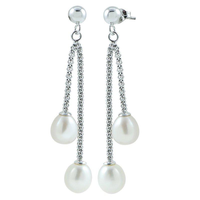 Imperial Pearl Double Drop Pearl Earrings