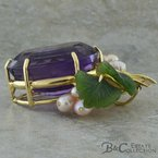 B&C Estate Collection Amethyst Necklace Enhancer