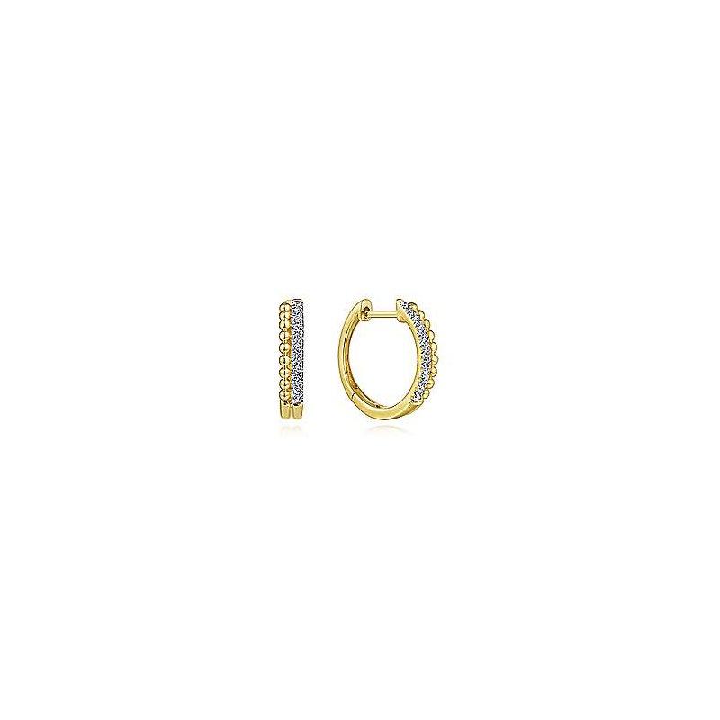 Gabriel & Co. -  IN-STORE COLLECTION Diamond Huggie Earrings