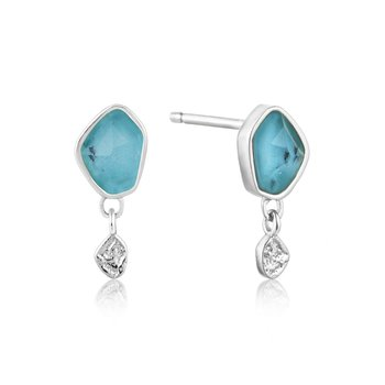 Turquoise drop Studs