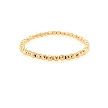Stretch 4 MM Yellow Gold Filled Bead Bracelet