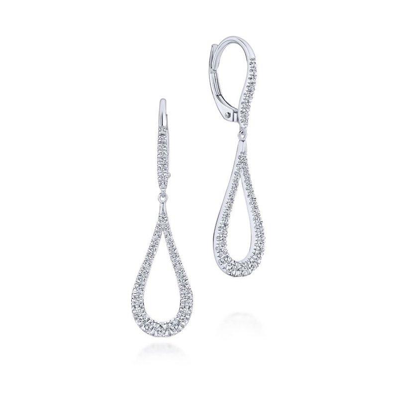 Gabriel & Co. -  IN-STORE COLLECTION Diamond Drop Earrings