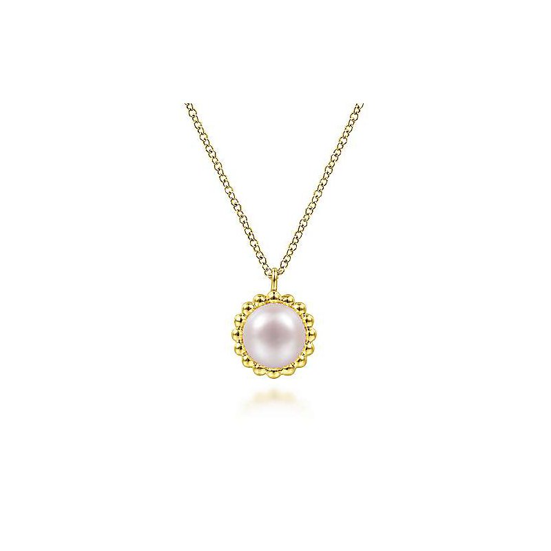Gabriel & Co. -  IN-STORE COLLECTION Bujukan Beaded Pearl Necklace