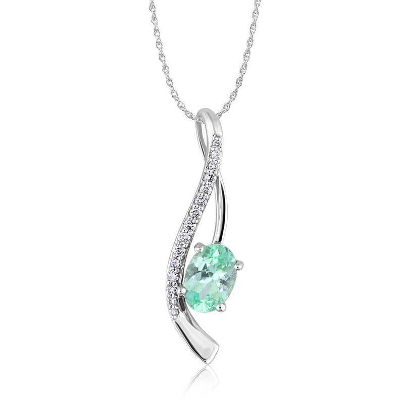 Parlé 14K White Mint Garnet Necklace
