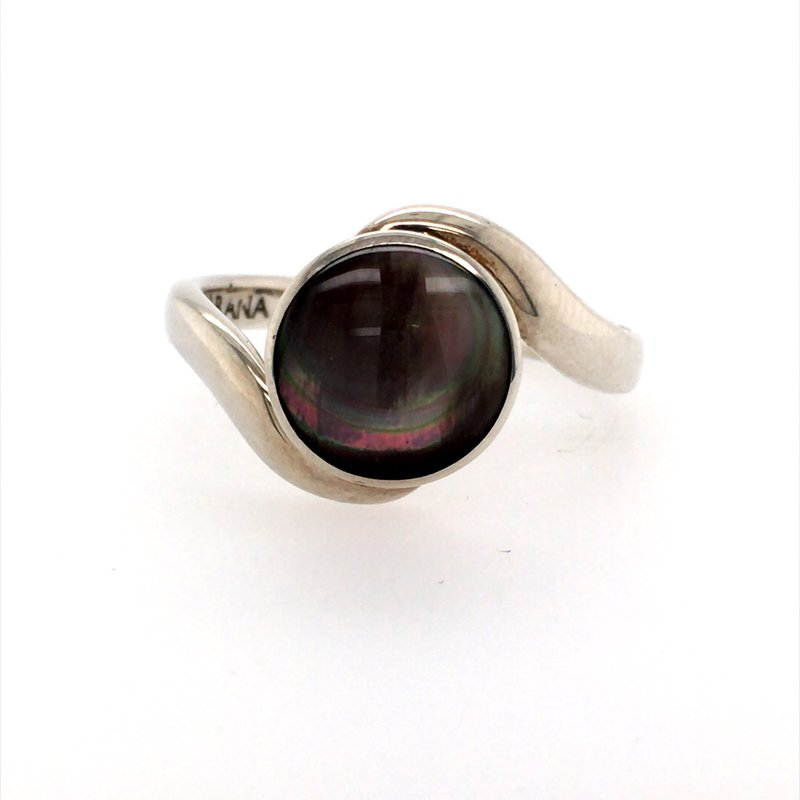BRIAN'S VAULT Black Mother of Pearl Ring